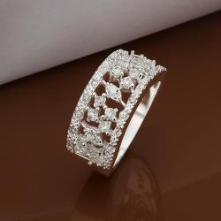 Vienna Jewelry Sterling Silver Multi-Jewels Insert Modern Ring Size: 8 - Thumbnail 0