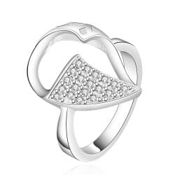 Vienna Jewelry Sterling Silver Crystal Leaf Petite Ring Size: 7 - Thumbnail 0