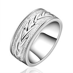 Vienna Jewelry Sterling Silver Design Ingrain Wedding Ring Size: 7 - Thumbnail 0