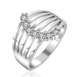 Vienna Jewelry Sterling Silver Jewels Covering Laser Cut Modern Ring Size: 8 - Thumbnail 0