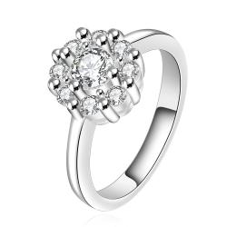 Vienna Jewelry Sterling Silver Classic Crystal Blossoming Ring Size: 7 - Thumbnail 0