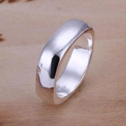 Vienna Jewelry Sterling Silver Square Shaped Classic Ring Size: 7 - Thumbnail 0