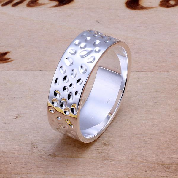 Vienna Jewelry Sterling Silver Beaded Ingrain Modern Band Size: 8