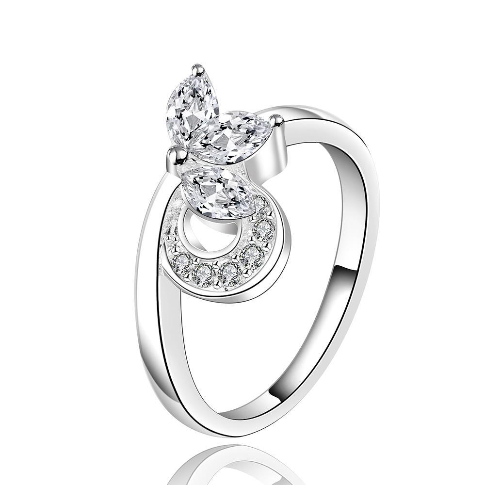 Vienna Jewelry Silve Tone Curved Knot Petite Ring Size: 8