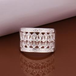 Vienna Jewelry Sterling Silver Multi-Lining Wedding Band Size: 8 - Thumbnail 0
