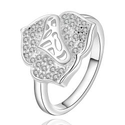 Vienna Jewelry Sterling Silver Jewels Covering Blossoming Clover Modern Ring Size: 8 - Thumbnail 0