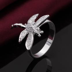 Vienna Jewelry Petite Butterfly Sterling Silver Ring Size: 8 - Thumbnail 0