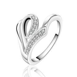 Vienna Jewelry Sterling Silver Multi-Swirl Jewels Petite Ring Size: 8 - Thumbnail 0