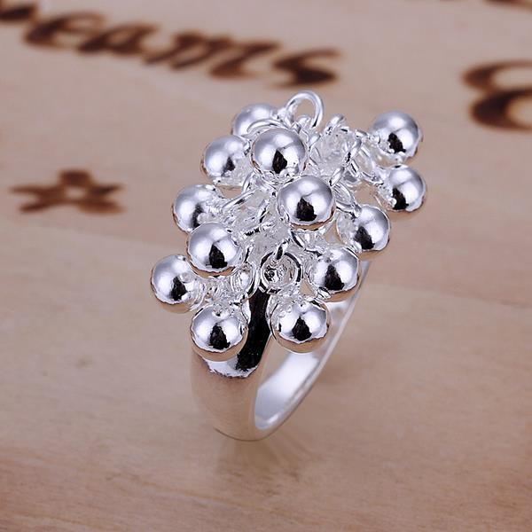 Vienna Jewelry Sterling Silver Beaded Orchid Petite Ring Size: 8