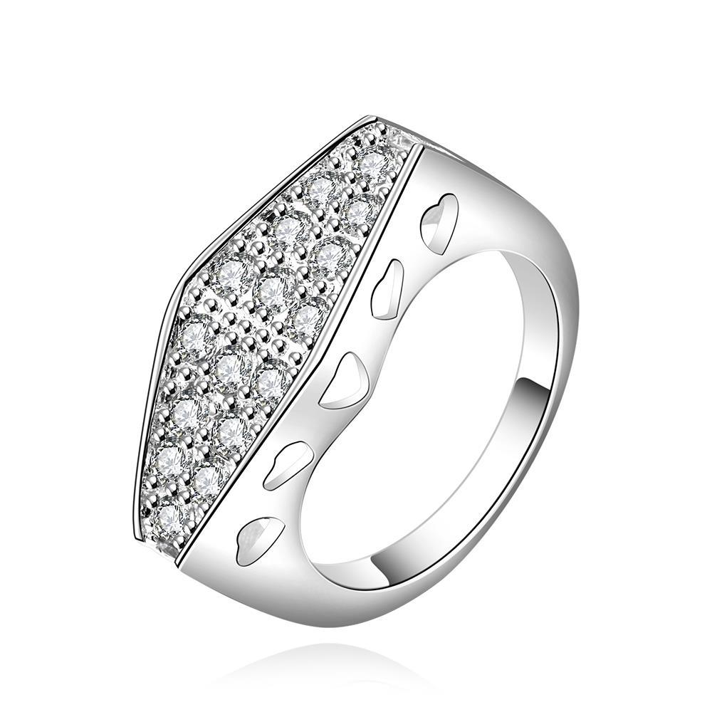 Vienna Jewelry Sterling Silver Crystal Filled Petite Ring Size: 7