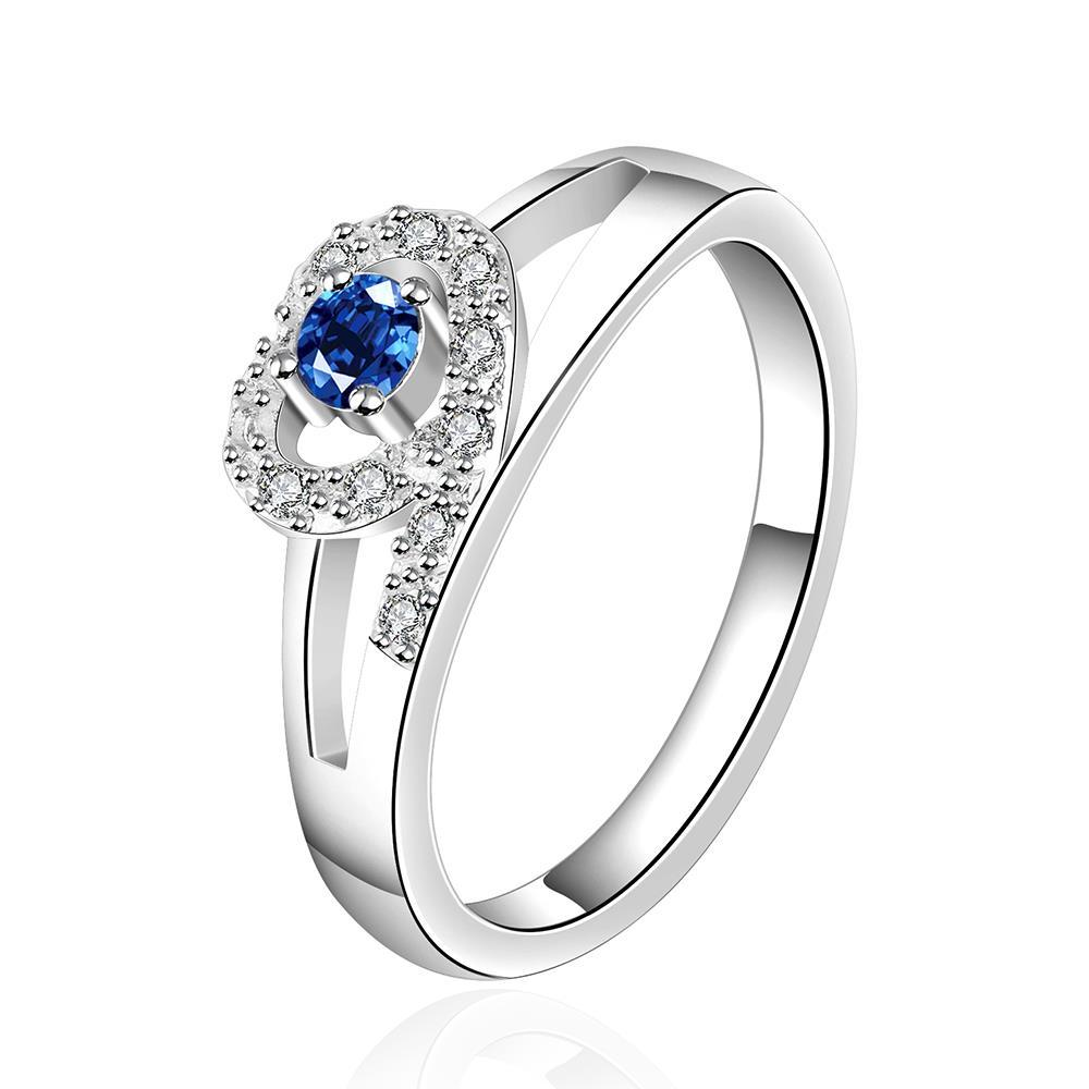 Vienna Jewelry Sterling Silver Mock Sapphire Jewels Covering Ring Size: 8