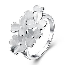 Vienna Jewelry Sterling Silver Multi-Clover Charm Petite Ring Size: 8 - Thumbnail 0