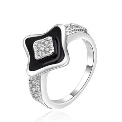 Vienna Jewelry Sterling Silver Diamond Shaped Onyx Plating Ring Size: 8 - Thumbnail 0