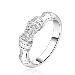 Vienna Jewelry Sterling Silver Bamboo Inspired Ring Size: 8 - Thumbnail 0