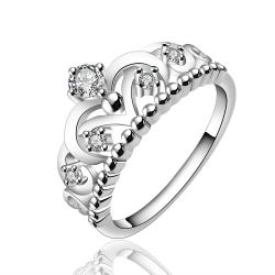 Vienna Jewelry Sterling Silver Queen's Crown Petite Ring Size: 8 - Thumbnail 0