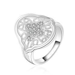 Vienna Jewelry Sterling Silver Laser Cut Ingrain Emblem Ring Size: 7 - Thumbnail 0