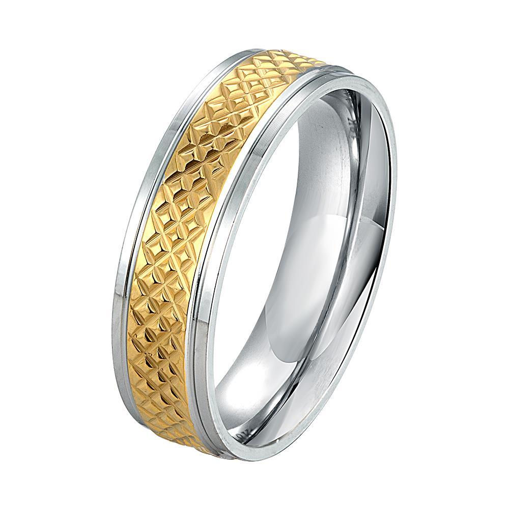 Vienna Jewelry Sterling Silver Gold Lining Laser Cut Cutting Ring Size: 6