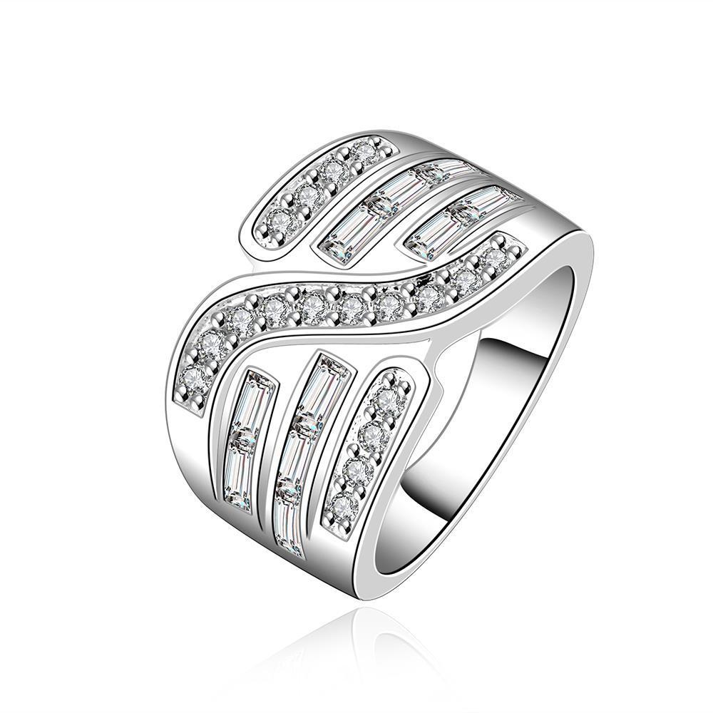 Vienna Jewelry Sterling Silver Swirl Jewels Design Ring Size: 8