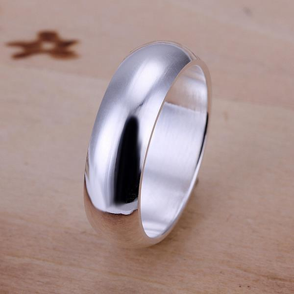 Vienna Jewelry Sterling Silver Classic Petite Ring Size: 8