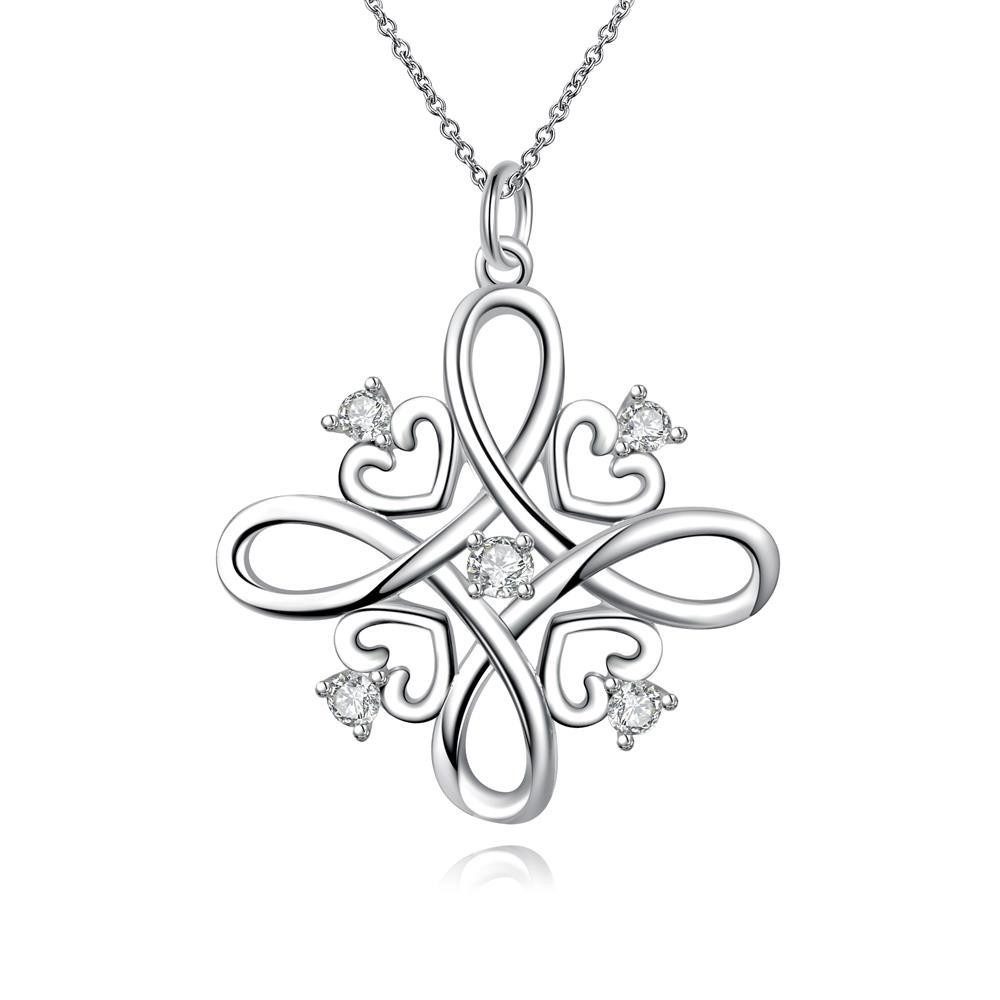 Vienna Jewelry Spiral Love Design Pendant Drop Necklace