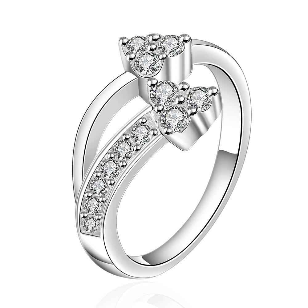 Vienna Jewelry Sterling Silver Love-Knot Petite Ring Size: 8