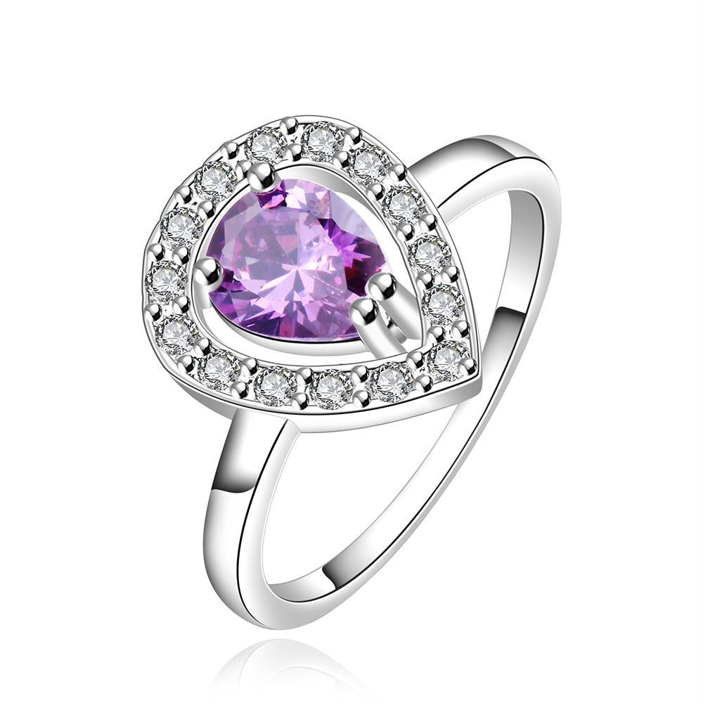 Vienna Jewelry Sterling Silver Purple Citrine Jewels Covering Ring Size: 7