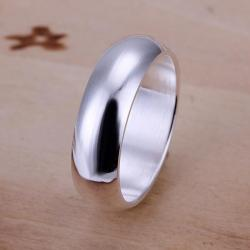 Vienna Jewelry Sterling Silver Classic Petite Ring Size: 8 - Thumbnail 0