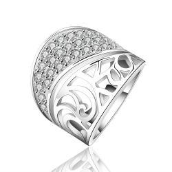 Vienna Jewelry Sterling Silver Jewels Layering Swirl Ring Size: 8 - Thumbnail 0