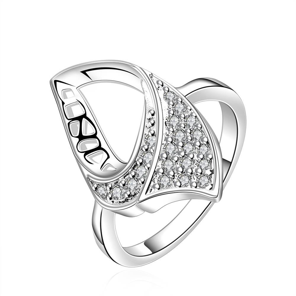 Vienna Jewelry Sterling Silver Hollow Abstract Emblem Ring Size: 8
