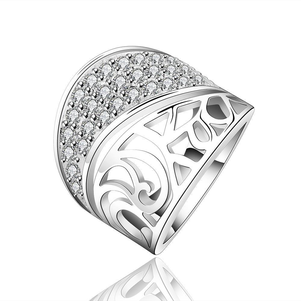 Vienna Jewelry Sterling Silver Jewels Layering Swirl Ring Size: 8