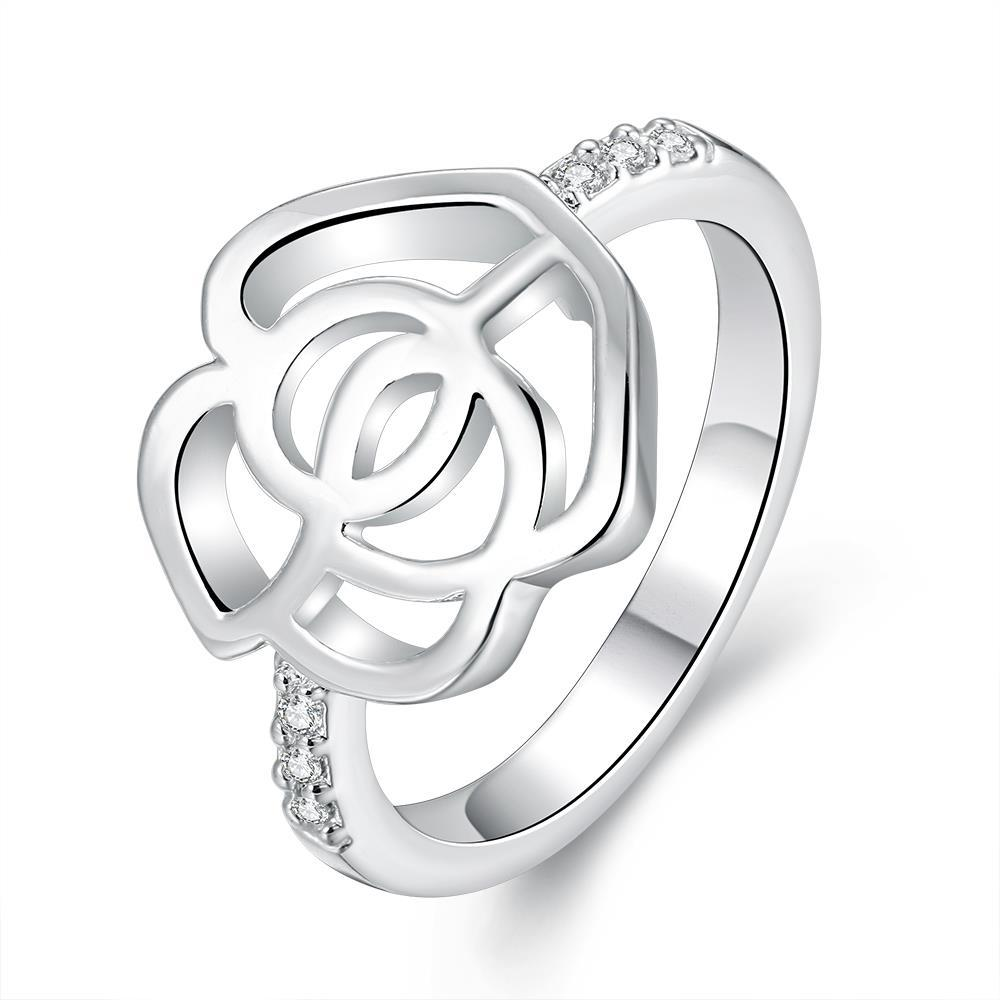 Vienna Jewelry Sterling Silver Laser Cut Hollow Floral Petal Ring Size: 8