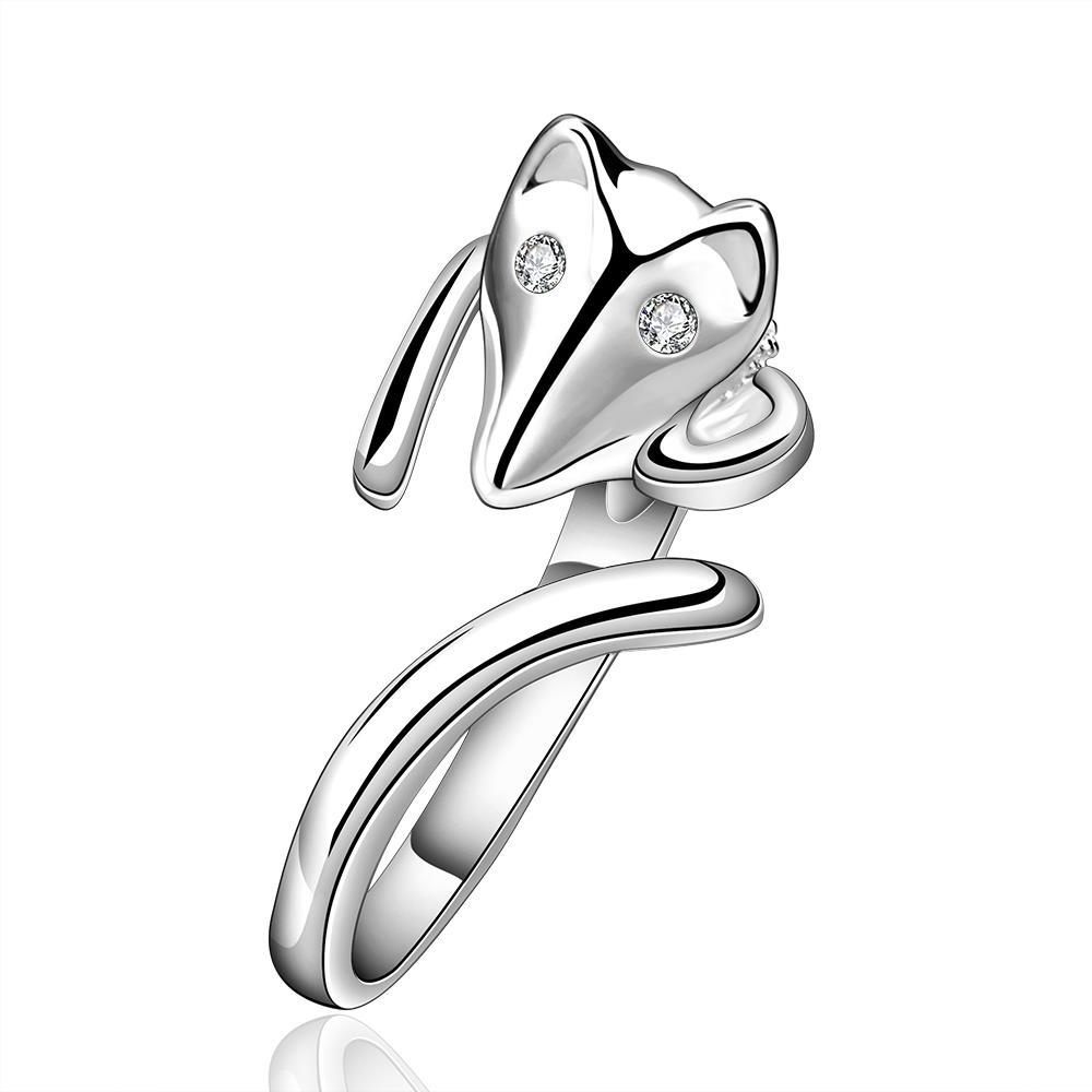 Vienna Jewelry Sterling Silver Swirl Sly Fox Petite Ring Size: 8 - Thumbnail 0