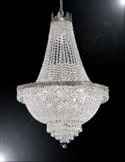 French Empire Crystal Chandelier Lighting H36 x W30 - Thumbnail 0