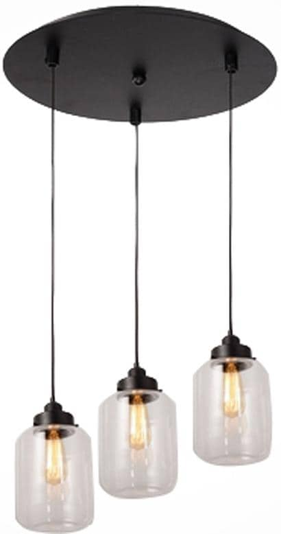 3 lights vintage glass mason jar pendant lamp light chandelier