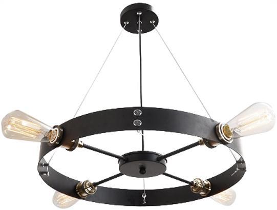 Round black vintage barn industrial pendant lamp light chandelier