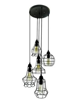 Rustic barn black chandelier - Thumbnail 0