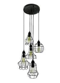 Rustic barn black chandelier