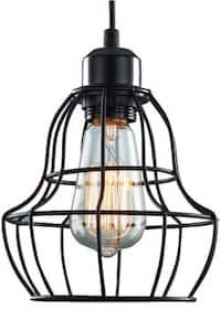 1 light minimalist black pendant lamp light