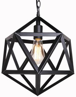 Painted barn metal vintage industrial pendant lamp light - Thumbnail 0