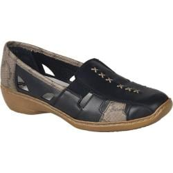 Women's Rieker-Antistress Doris 85 Black/Leinen
