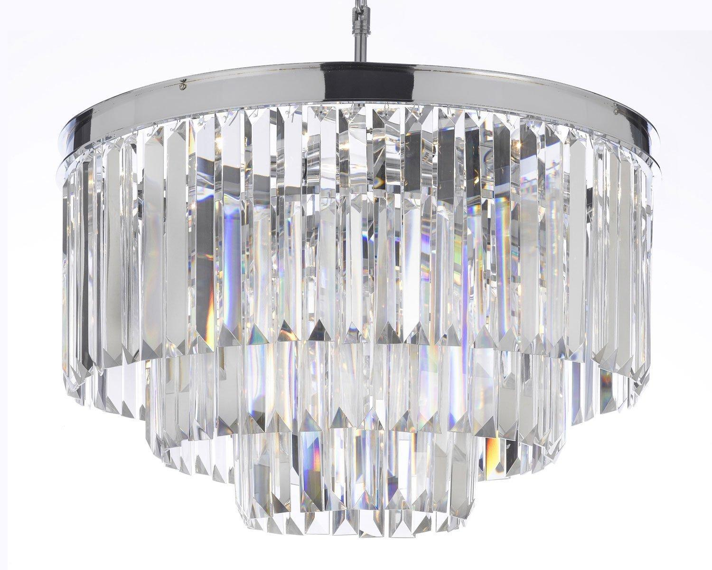 Palladium Empress Crystal Glass Fringe 3 -Tier Chandelier