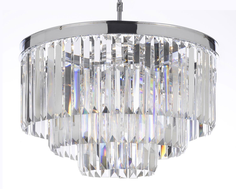 Odeon Empress Crystal Glass Fringe 3 -Tier Chandelier Lighting