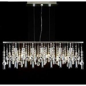 Modern Contemporary Linear Chandelier Lighting Lamp With Crystal H58 x W38