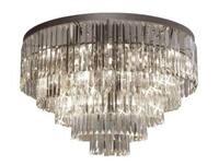 Palladium Empress Crystal Glass Fringe 5 -Tier Chandelier Lighting