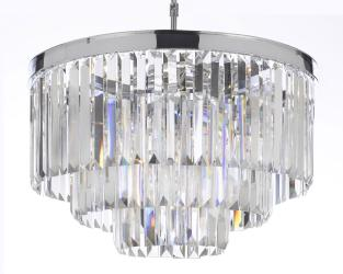 Odeon Empress Crystal Glass Fringe 3 -Tier Chandelier Lighting