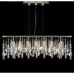 Modern Contemporary Linear Chandelier Lighting Lamp With Crystal H58 x W38 - Thumbnail 0