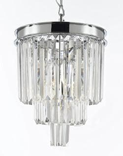Palladium Empress Crystal Glass Fringe 3 -Tier Chandelier Lighting - Thumbnail 0