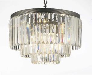 Odeon Crystal Glass Fringe 3 -Tier Chandelier Lighting