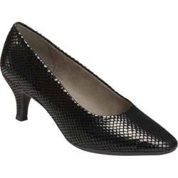 Women's Aerosoles Stardom Black Snake Leather