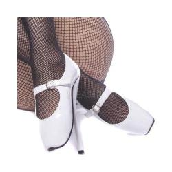 Women's Devious Ballet-08 White Patent